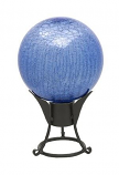 """6"""" Gazing Globe, Blue Lapis, Crackle"""