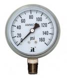"""Zenport APG160 0 - 160 PSI NH3 """"Ammonia"""" Pressure Gauge"""