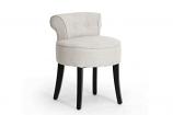 Baxton Studio Millani Beige Linen Modern Lounge Stool