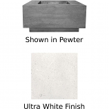 Prism Hardscapes Tavola 2 Fire Table in Ultra White - NG