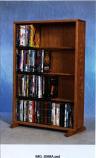 Solid Oak 4 Row Dowel DVD Cabinet Tower Model 415-24
