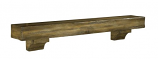 "The Shenandoah 60"" Shelf or Mantel Shelf in Distressed Dune Rustic"