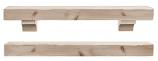 """The Shenandoah 72"""" Shelf or Mantel Shelf - Unfinished"""