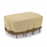 Dura Covers LRFP5524 Rectangular/Oval Patio Table & Chair Set Cover - Medium