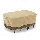 Dura Covers LRFP5524 Rectangular/Oval Patio Table & Chair Set Cover - Medium