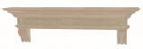 "The Devonshire 60"" Shelf or Mantel Shelf - Unfinished"