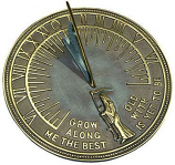 Rome Father Time Sundial - Solid Brass with Verdigris Highlights
