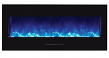 """50"""" Electric Fireplace with Black Glass Surround, No Mood Light"""
