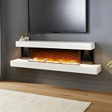 Evolution Fires 72'' Alpha Electric Fireplace with Red Gloss Panels