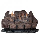 "Palmetto Oak 18"" 5-Piece Refractory Log Set & LP Manual Control Burner"