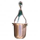 "Patina R278 Copper Pot Rain Chain - Full Length 8.5"""