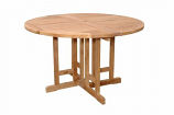 """Anderson Teak TBF-047BR Butterfly 47"""" Round Folding Table"""