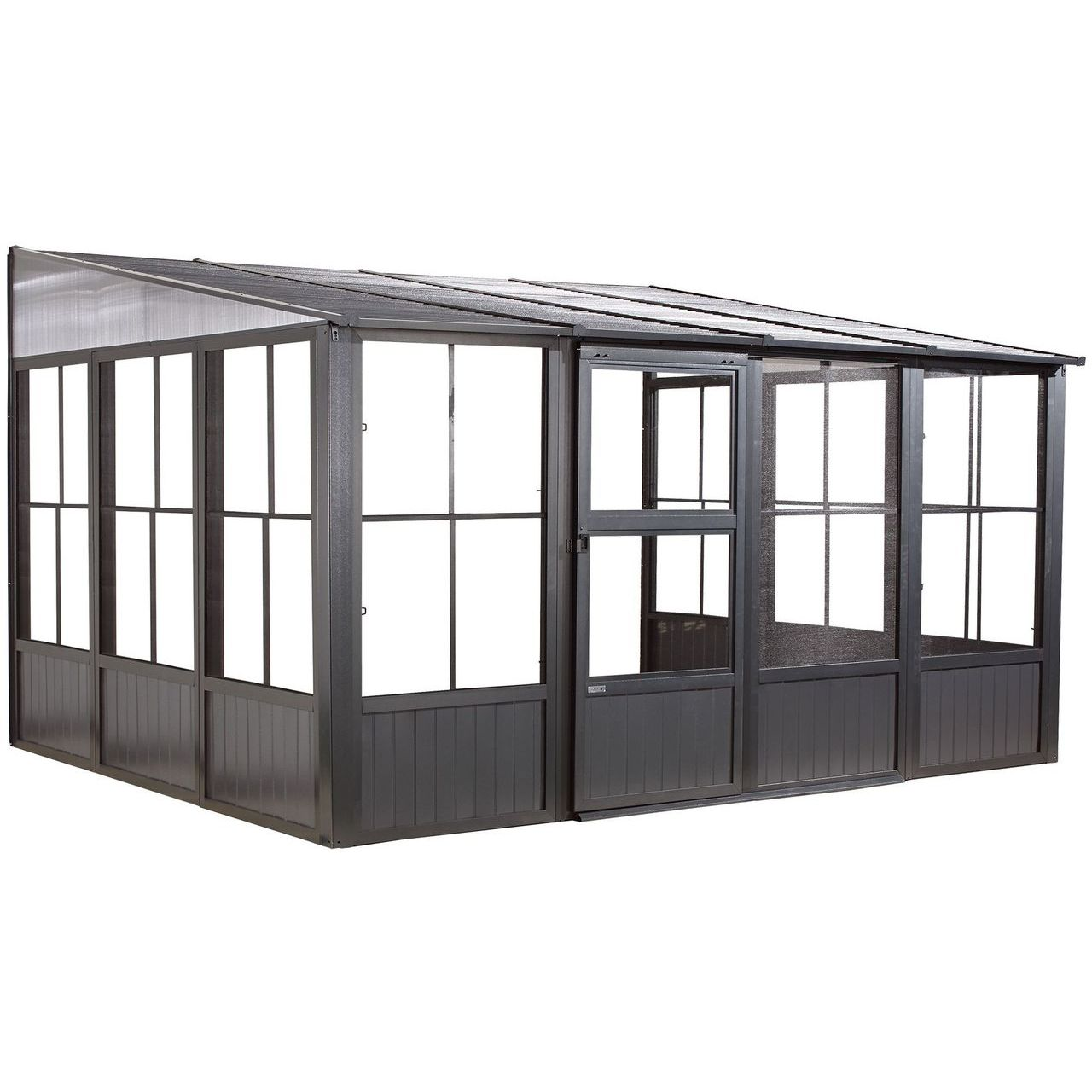 Sojag Charleston #93D Wall Solarium With Steel Roof - 10x10 Ft