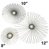 "8"" Flat Star Wire Brush For Viper, For 6"" Flue"