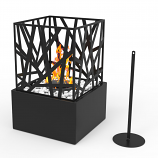 Regal Flame ET7002BLK Bruno Ventless Tabletop Bio Ethanol Fireplace in Black
