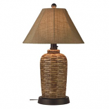 South Pacific Outdoor Table Lamp with Sesame Sunbrella Shade