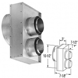 "Galvanized Standard Appliance Connector - 4"" x 6-5/8"""
