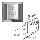 """Aluminum Galvanized Sconce Termination Cap - 4"""" x 6-5/8"""""""