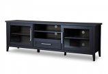 Baxton Studio Espresso TV Stand-One Drawer