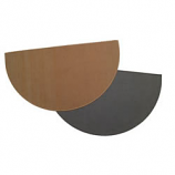 "Charcoal Half Round Hearth Rug, 27"" X 48"", 100% Fiberglass"