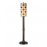 "Coronado 70"" Bronze Outdoor Floor Lamp with Mojito Coffee Bean Shade"