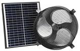 "iLiving ILG8SF303 Smart Solar Attic 14"" Round Exhaust Fan - Black"