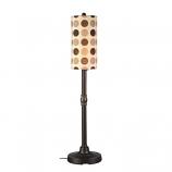 "Coronado 58"" Bronze Outdoor Floor Lamp with Mojito Coffee Bean Shade"