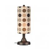 "Coronado 30"" Bronze Outdoor Table Lamp with Mojito Coffee Bean Shade"