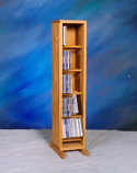Solid Oak Dowel Cabinet for CD's Model 506