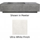 Prism Hardscapes Tavola 5 Fire Table in Ultra White - LP