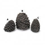 "Hargrove Small Slanted Ceramic Pine Cone For Gas Logs, 3.5""H"