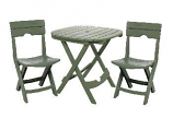 Sage Quik-Fold Cafe Set By Adams Mfg