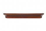 "The Lindon 60"" Shelf or Mantel Shelf in Distressed Cherry Finish"