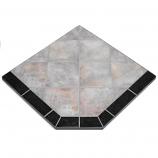 "Night Shadows Tile Stove Board, Single Cut Corner, 48"" x 48"""