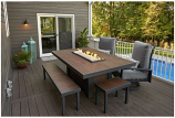 Outdoor GreatRoom Kenwood Linear Dining Height Gas Fire Pit Table