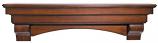 "The Auburn 72"" Shelf or Mantel Shelf in Distressed Cherry Finish"