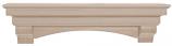 "The Auburn 72"" Shelf or Mantel Shelf - Unfinished"