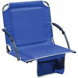 Shelter Logic 10121-407-1 Bleacher Boss Stadium Chair with Arms - Blue