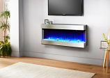 Evolution Fires 3 Sided Empire 44'' Electric Fireplace - Stainless Steel