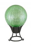 "12"" Gazing Globe, Light Green, Crackle"
