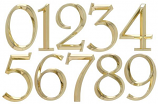 Classic 6 Inch Number  0  Polished Brass