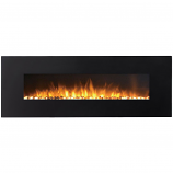 Regal Flame LW5072PF Erie 72in Black Electric Wall Mounted Fireplace - Pebble