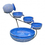 Blueberry Ceramic Solar Cascade - with Rustic Blue finish