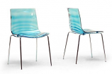 Set of 2 Marisse Blue Plastic Modern Dining Chair
