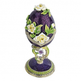 Purple Salvia Spring Bouquet Collection Romanov Style Enameled Egg