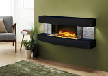 Evolution Fires Miami Curve Fire Pit Electric Fireplace - Star Galaxy