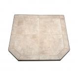 "Carmel Tile Stove Board, Single Cut Corner, 40"" x 40"""