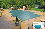 InGround Mesh Safety Cover for 12' x 24' Pool with 4' x 6' Center End