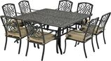 Patio Resort SQDTDY64-BT2 Bridgetown 9-Piece Dining Set