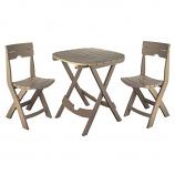 Quik-Fold Cafe Set-Portobello By Adams MFG
